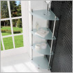 Eastbrook - Davos Corner 320 x 320 x 1180mm Glass Shelves